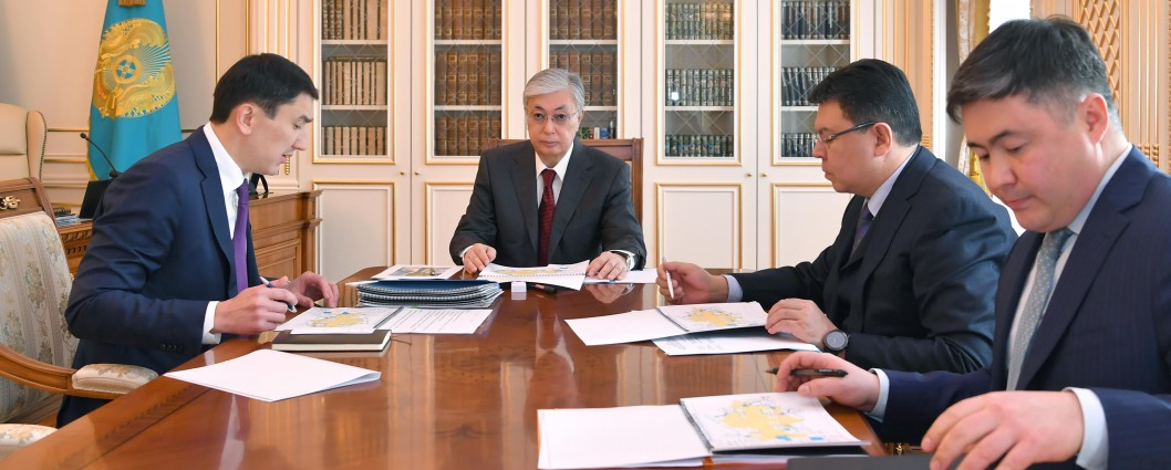 President Kassym-Jomart Tokayev receives Minister of Ecology, Geology and Natural Resources Magzum Mirzagaliyev