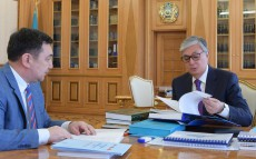 President of Kazakhstan Kassym-Jomart Tokayev receives Darkhan Kydyrali, President of the International Turkic Academy