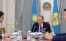 "Meeting with ""Kazatomprom"" JSC Board Chairman Askar Zhumagaliyev"