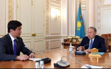 Meeting with akim of Almaty city Bauyrzhan Baibek