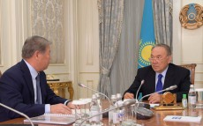Meeting with the Board Chairman of 'National Company Astana EXPO-2017' JSC Akhmetzhan Yessimov