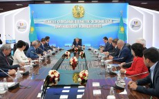 Meeting on the socio-economic development of Shymkent city