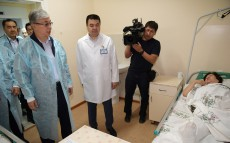 Kassym-Jomart Tokayev visits the regional clinical hospital